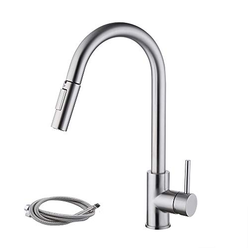 Kes Pull Down Kitchen Faucet Stainless Steel Modern Single